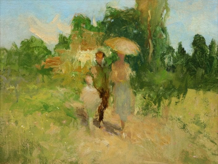 Landscape with a man, woman and child