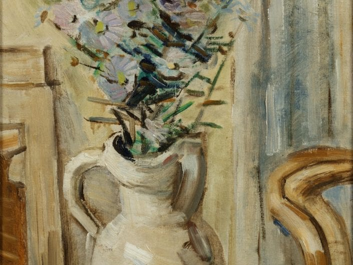 A still life with aster flowers